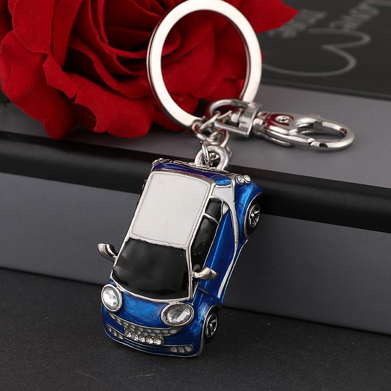 Fashion alloy car key chain pendant charm women handbag crystal pendant small luxury car accessories ysk077 model