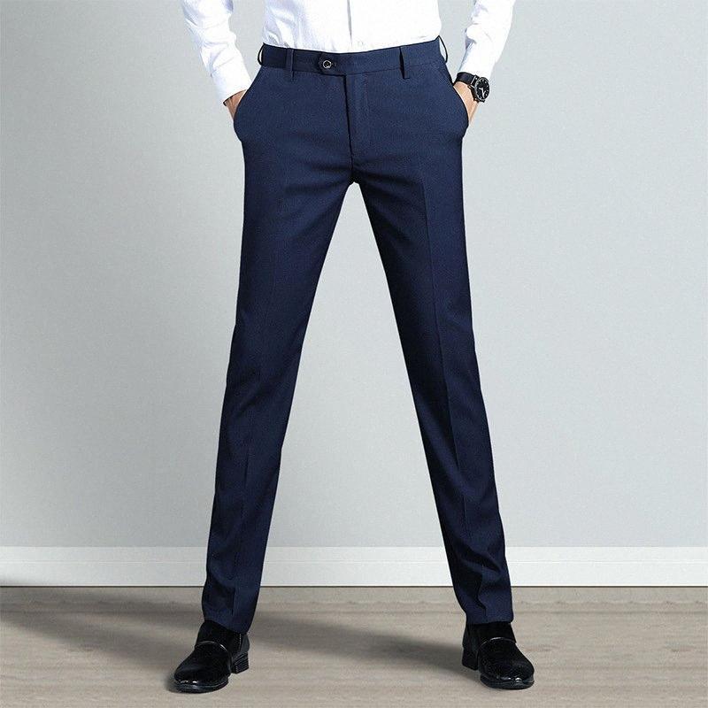 calças masculinas novo melhor calças dos homens terno moda casual calças de negócios informais calças formais terno do casamento banquete mens CD5K #