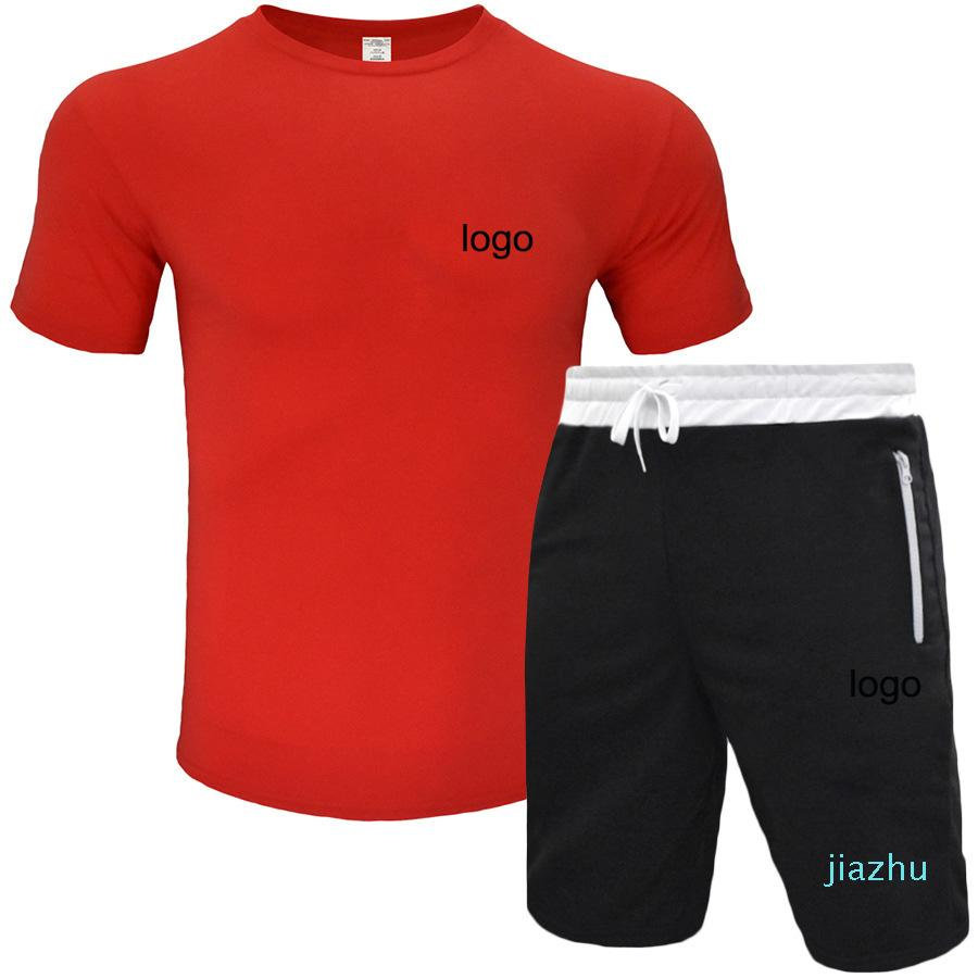 mens tracksuits summer sweatsuit 2020 italy style sport clothes Men's short sleeve T-shirt casual sports suit 5-point shorts