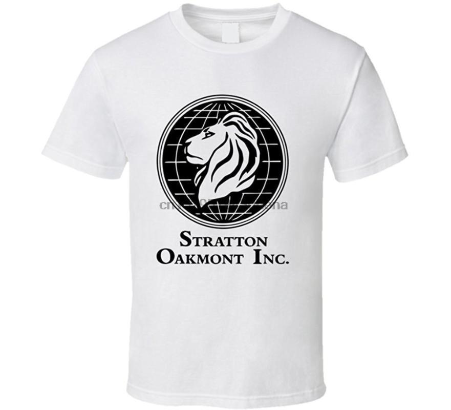 100% algodón de deporte los hombres de Stratton Oakmont lobo de Wall Street Stock operador financiero película T Shirt