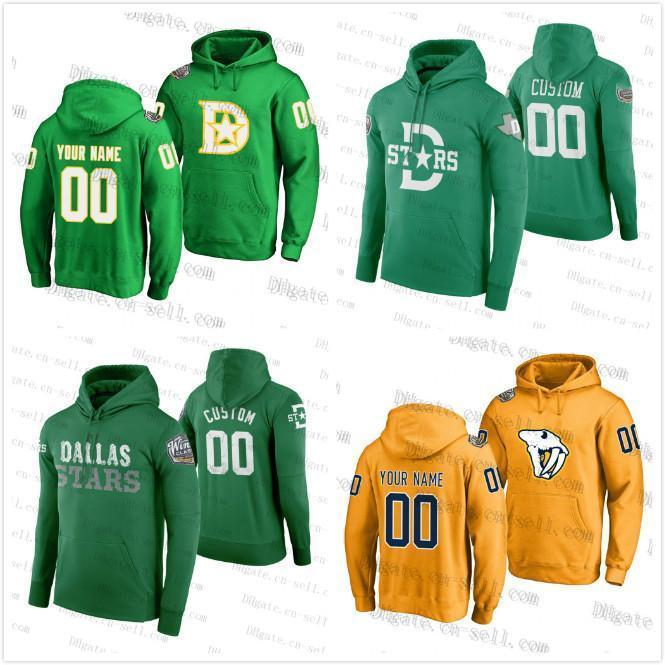 2020 Los depredadores Estrellas Amarillo para hombre clásico de invierno para mujer con capucha juventud Jersey verde Dallas encargo cualquier Nombre Cualquier Numer en blanco los jerseys del hockey