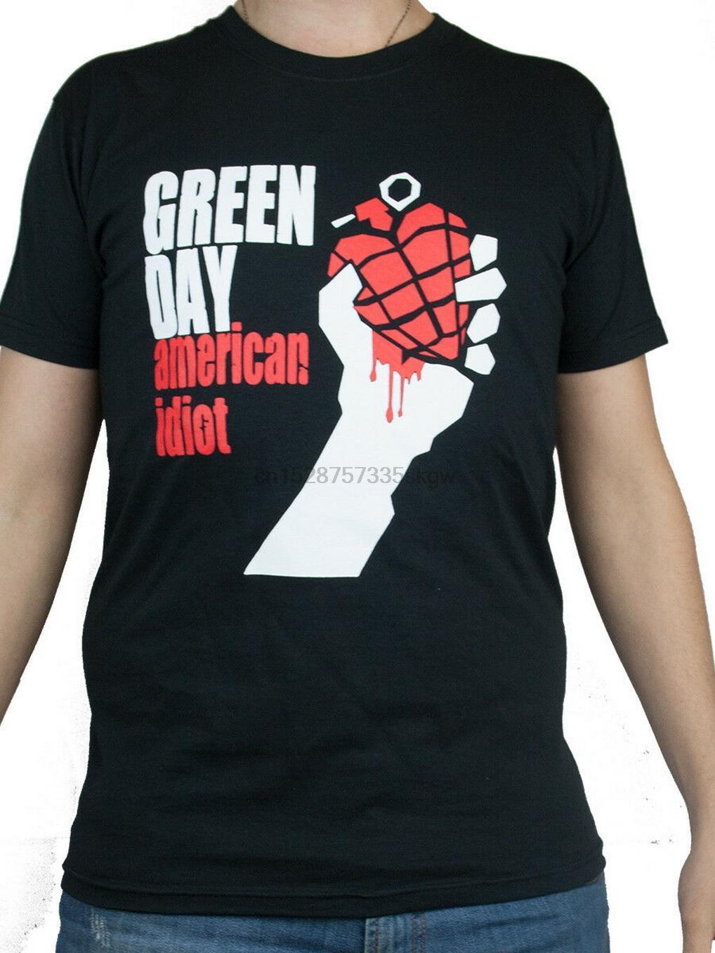 T-shirt Shirt Green Day Rock Band Musique RECOMMANDÉ et Approved shirt T-shirt d'été O Tops cou