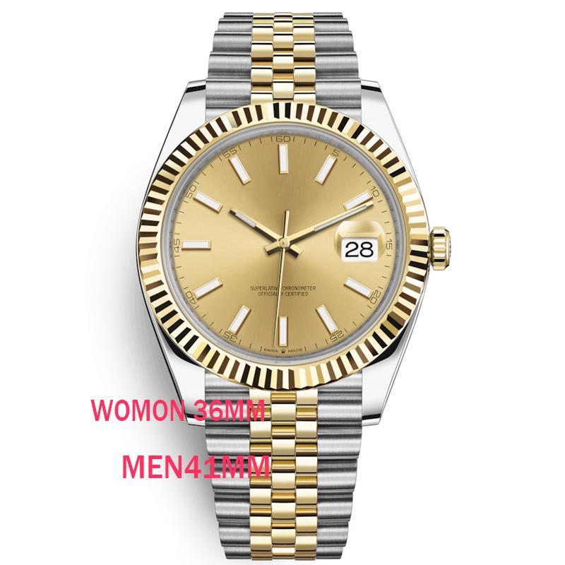 caijiamin-U1 품질 36mm 남성 시계 자동 운동 스테인레스 스틸 시계 여성 2813 기계 손목 시계 방수 빛난
