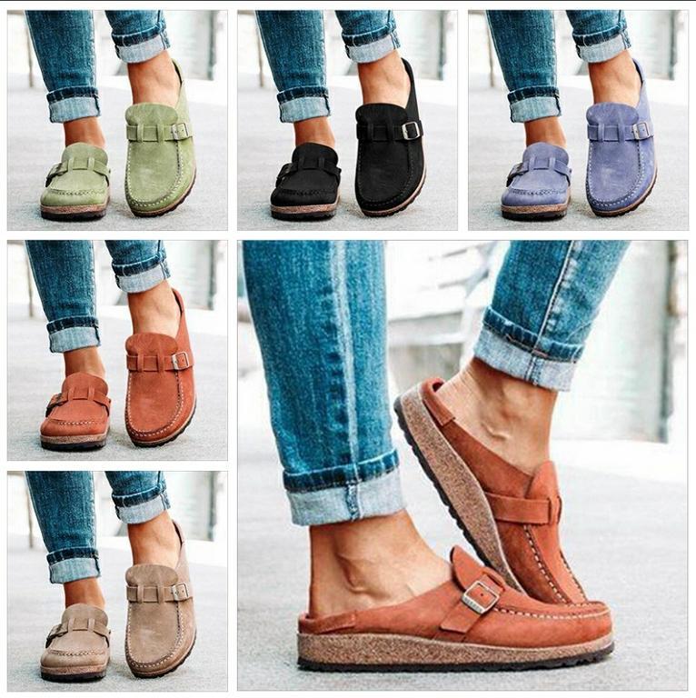 دوغ أحذية البريطانية شقة المتسكعون الصيف الخف الصنادل الشقق الرياضة زائد الحجم الأحذية الناعمة عارضة chaussures جلد طبيعي الأحذية H7455