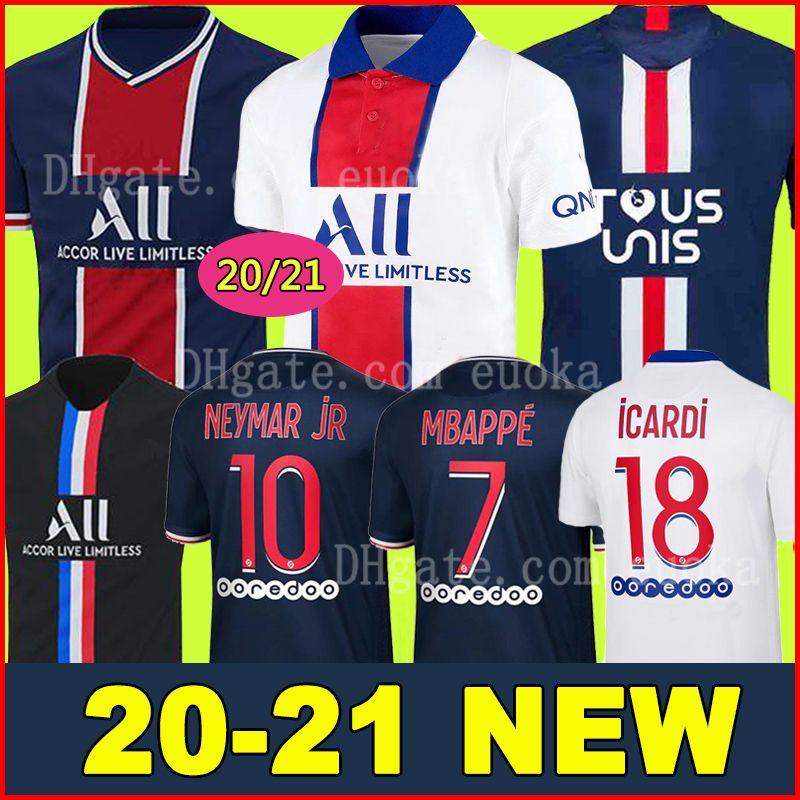 20 21 PSG JORDAN camiseta de fútbol 2020 2021 ICARDI camisa Paris Saint Germain NEYMAR JR MBAPPE soccer jerseys camisa Survetement futebol kit CHAMPIONS camisa de futebol