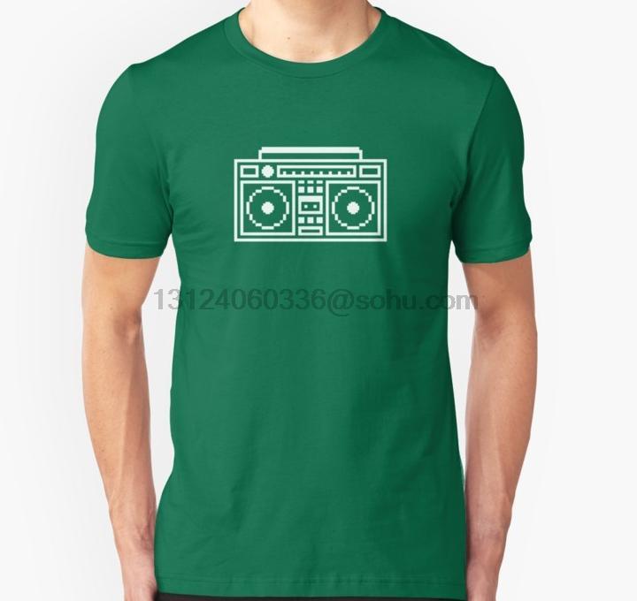 Gli uomini della maglietta maniche corte Ghettoblaster unisex maglietta O del collo donne maglietta