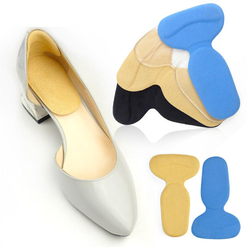 1 pair المرأة t- شكل عالية الكعب القبضات بطانة القوس دعم تقويم العظام إدراج النعال القدم كعب حامي وسادة وسادة منصات الأحذية الملحقات