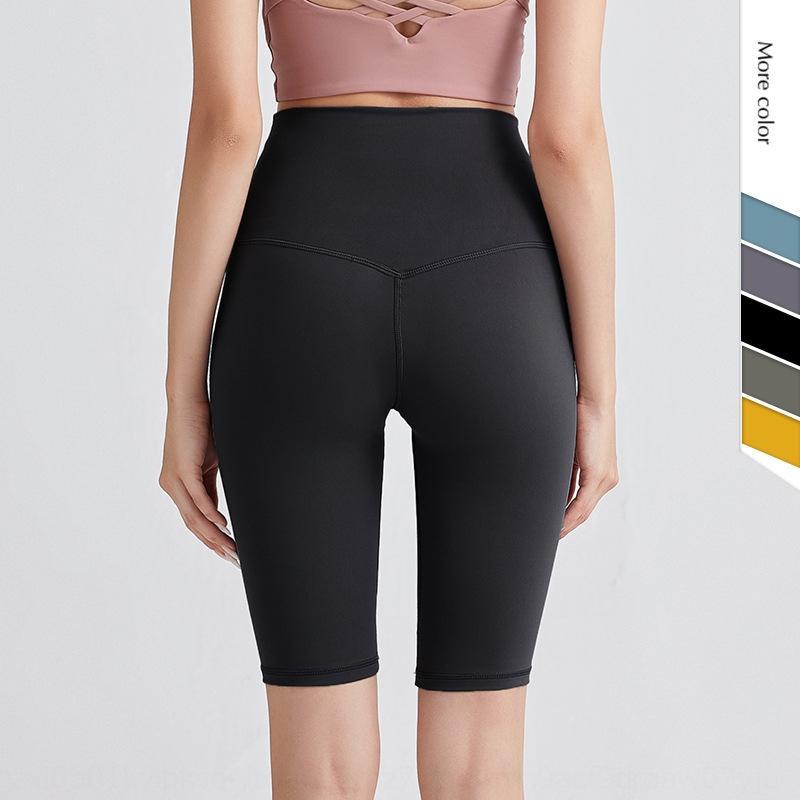 2020 Yaz yeni süper yüksek bel kalça kaldırma çift taraflı yoga pantolon şort yoga pantolonları kadınlar için elastik ince koşu şort kumlama