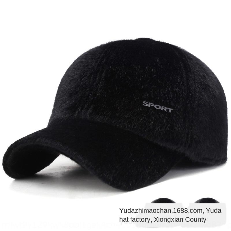 Lida erkekler şapka Kore tarzı vizon beyzbol beyzbol şapkası saç açık soğuk geçirmez kulak kapağı