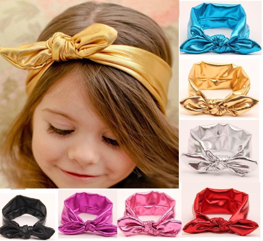 1PC 2020 NOUVEAU Hot oreilles Fashion Occident Stamping enfants élastiques tête des bandes Mode solides à larges bords Accessoires cheveux