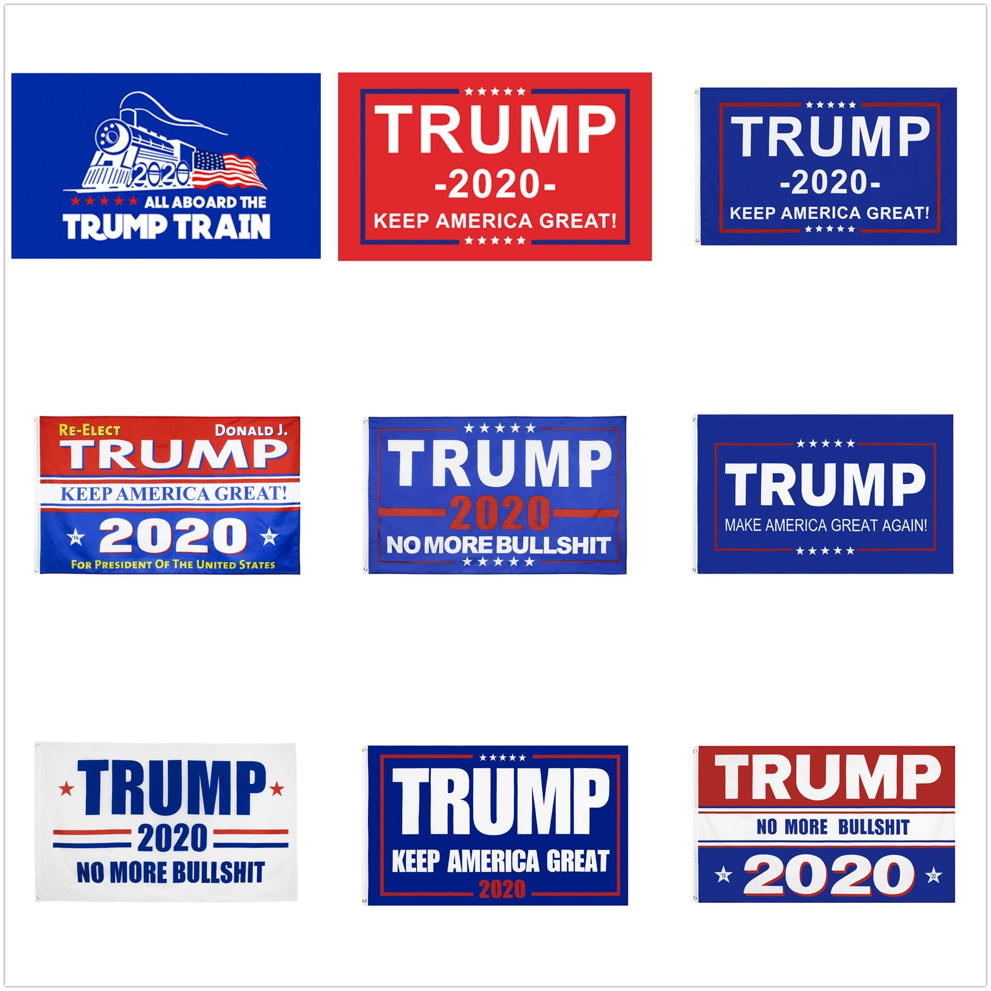 10 designs Trump Flags Donald Trump Flags 2020 Election Keep America Great Donald for President Campaign Banner 90*150cm Garden Flags