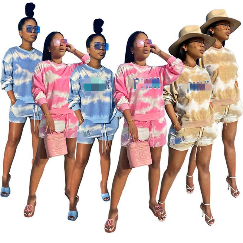 Trainingsanzüge Shorts-Kombinationen 2-teiliges Set T-Shirt + Shorts Anzug Frauen Kleidung der neuen heißen Sommer Frauen Frauen SportSuit Kleidung klw4432