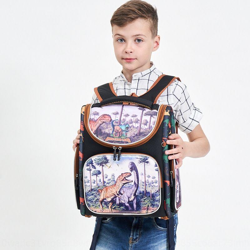 18 New Russian primary school schoolbag children cartoon burden reduction hard case schoolbag customized