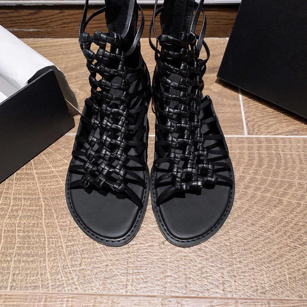 самые лучшие продавая низкий коренастые пяток, ботинки босоножек срезанных Диффузоров обувь модной подлинной реальной кожи повелительница одиночных ботинки