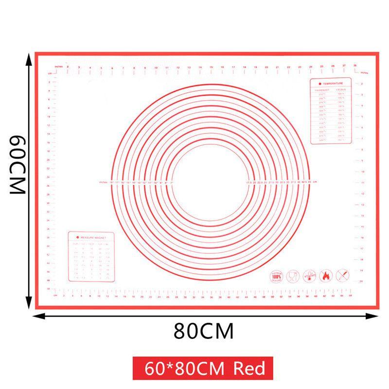 Büyük Beden Non_Stick Silikon Pişirme Mat yeniden kullanılabilir Pişirme Mat Pişirme Aracı 80 * 60CM / 70 * 50cm / 60 * 60CM / 60 * 50cm Y200612