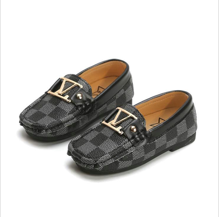 Детская обувь мягкая кожа PU малышей Мокасины Baby Boy Обувь Классический Стиль нескользкую на мальчиков Обувь Размер 21-30 Весна Осень