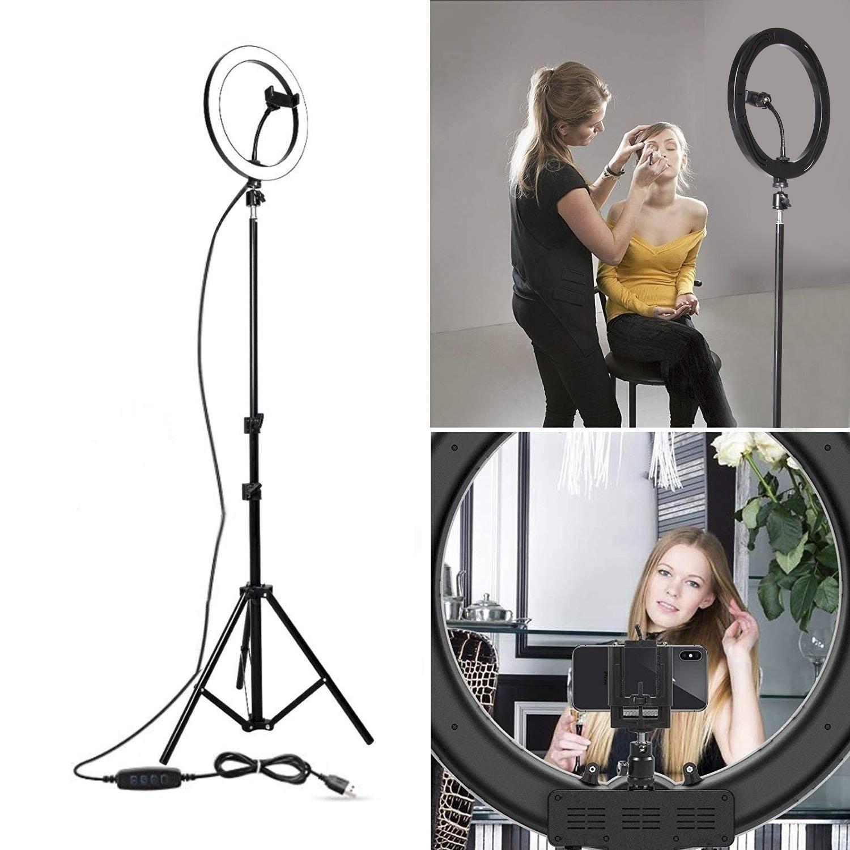 Fábrica 16 Fria / 26 centímetros Fotografia LED Youtube selfie três velocidades Aqueça Stepless iluminação regulável LED Light Anel Video Phone Ligh