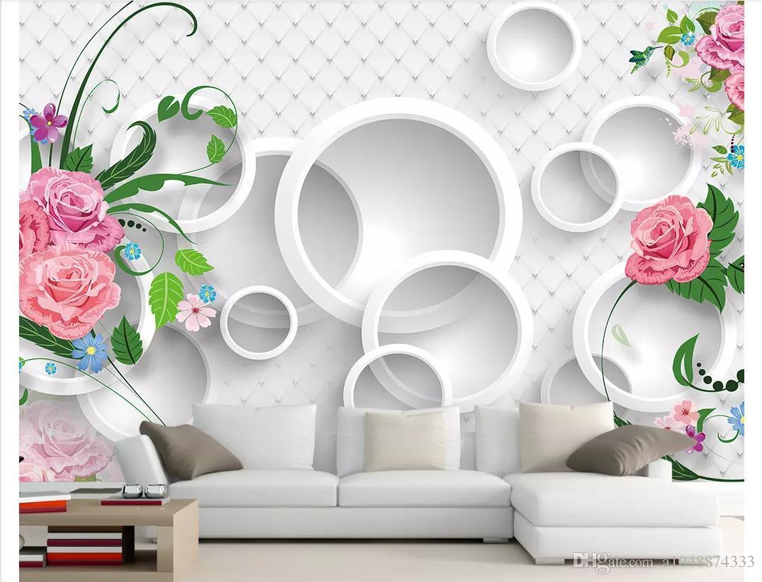 3d Wall Murals Wallpaper Custom Picture Mural Wall Paper Modern Warm Romantic 3d Rose Tv Background Wallpaper For Walls 3d Home Decor From Highqualit02 40 78 Dhgate Com