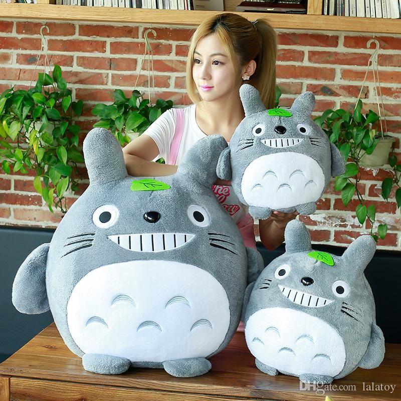 20 centímetros-50cm Meu Vizinho Totoro Plush Toy Kawaii Bicho de Pelúcia Animais Anime Totoro Crianças Boneca Crianças macio dos desenhos animados Toy presente LA093