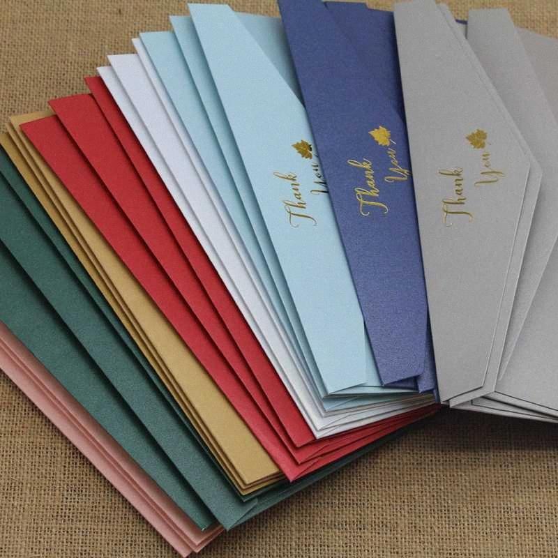 50pcs / серия Высокое качество # 5 Конверты 200gsm Бумага с письмом СПАСИБО ЗА ПРИГЛАШЕНИЕ Свадебные конверты J9G7 #