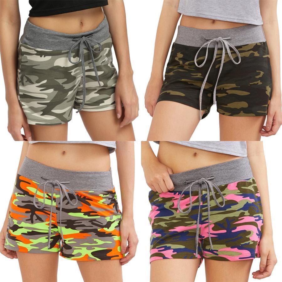 Kadın Plaj Şort 2020 Yeni Geliş Kadın Yaz Casual Şort Pantolon Moda Kadın Baskılı Şort 2 Renkler Artı boyutu M-63XL # 130 # 7661
