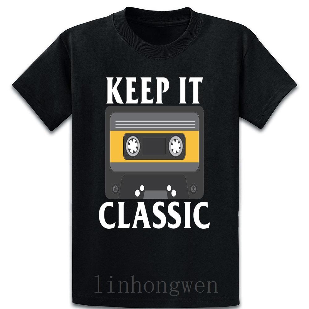 Mantenha clássico T-lo camiseta O-Neck engraçado Casual Primavera Outono Impresso Família solto Tee Formal Camisa
