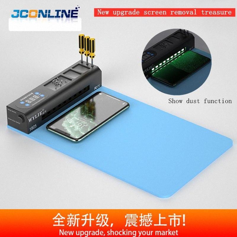 Móvil de la pantalla LCD del teléfono Separador Construir-en la lámpara de reparación de máquina herramienta, Refurbish kit de vidrio abierto removedor del cojín de calefacción Separador Mat k6Qq #