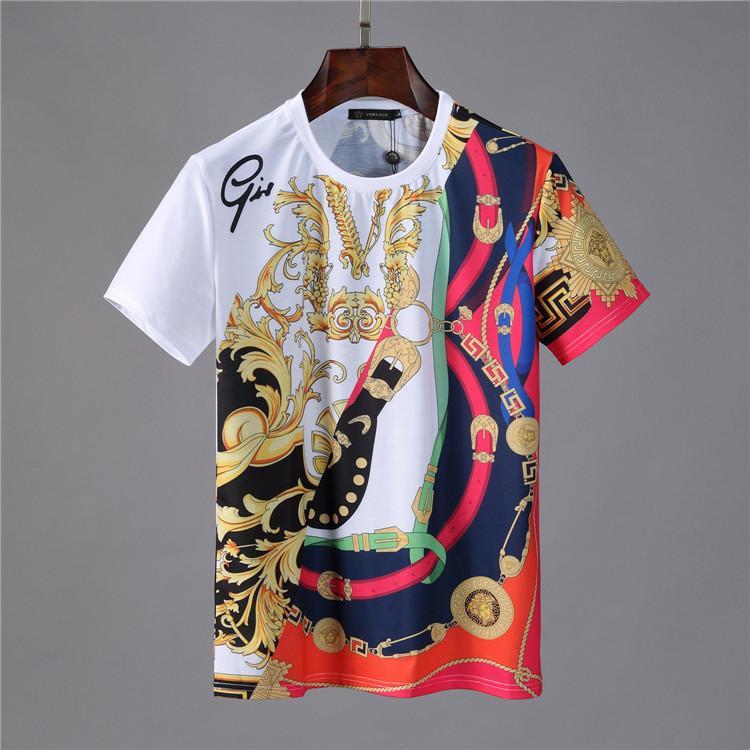 Hot Fashion Designer Mens t-shirt Para Mens manga curta Men respirável T-shirt com letras verão camisetas Medusa camisa de manga curta t