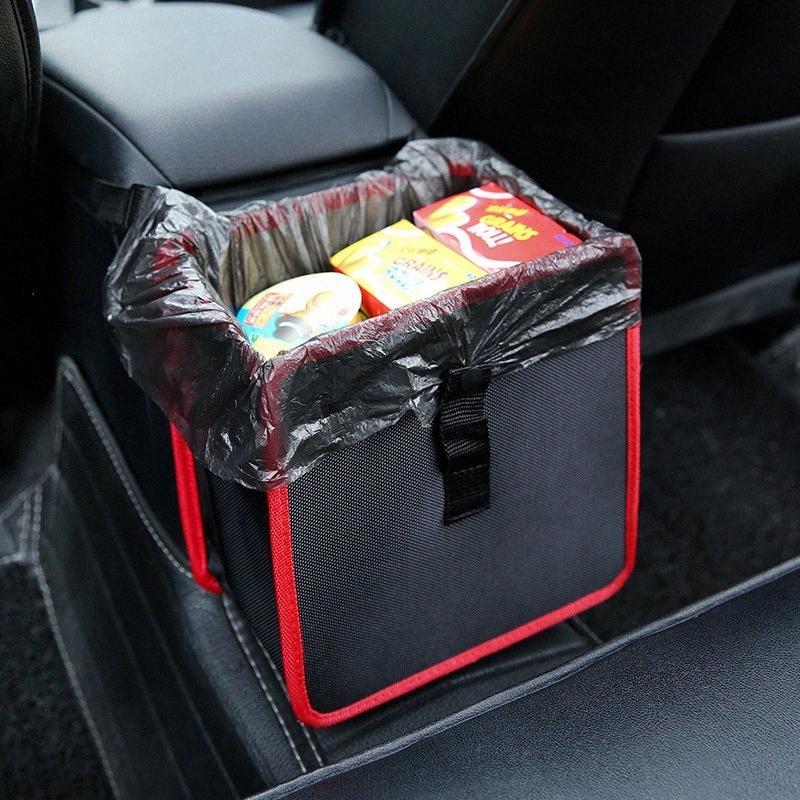araba çöp kutusu Araç çöp torbası kovası Çöp can Çok fonksiyonlu saklama torbası saklama kutusu Oxford bez sepet ZmwE #