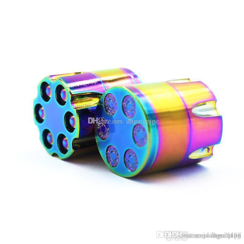 Regenbogen-Kraut-Schleifer neue Ankunfts-3 Ebenen 30mm Durchmesser Zink-Legierung Kugel Revolve Kräuter Grinder Bronze für Tabakrauchen