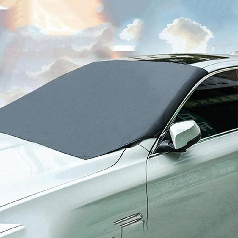 Car Front Windshield Cover Snow Half Cover Car Magnetic Front Gear Magnet Sun Block Sun Block jZmq#