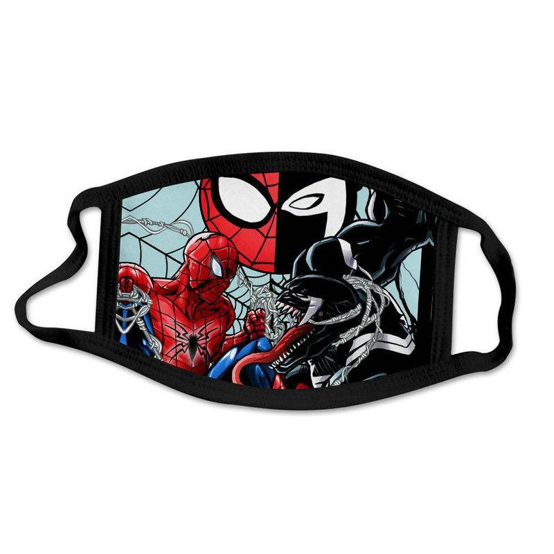 Carino Spider Man Spiderman Super Hero dal design di lusso maschera Kid del partito del fronte di Cosplay riutilizzabile polvere lavabile antivento dei bambini del cotone NGXDC