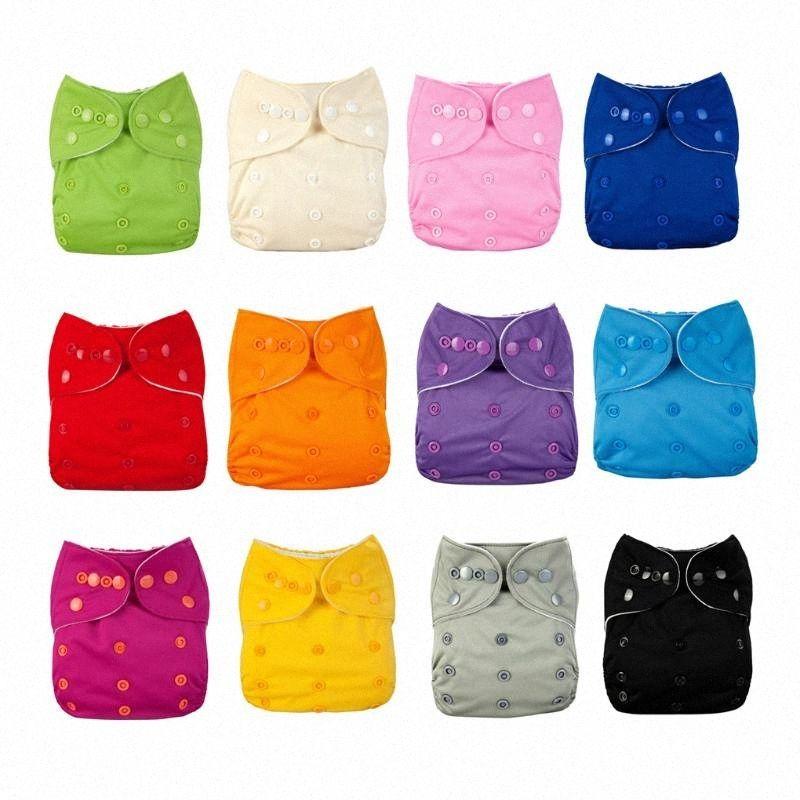 12 Farben Solid Color waschbare Mehrwegwindeln Breath TPU wasserdichte Windel-Baby-Leakage Proof Pants New kUPq #