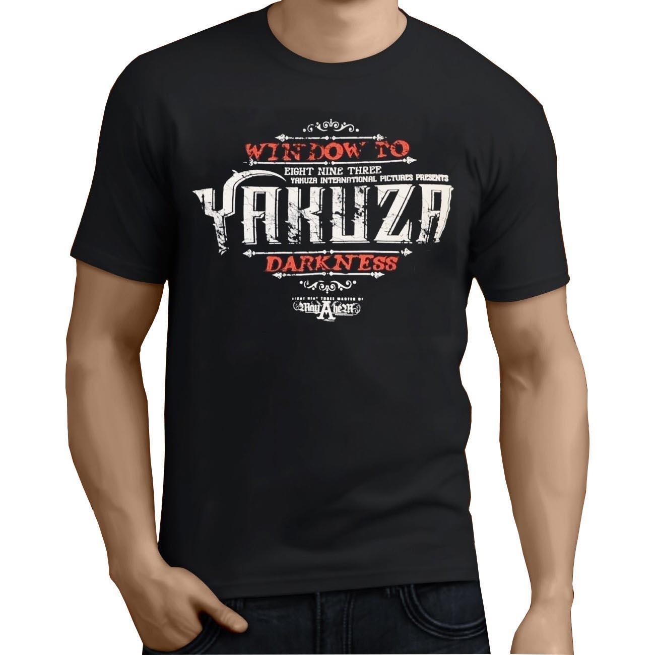 Yakuza T-shirt ronde pour hommes Vêtements Créer super T-shirt Slim T-shirt Coton simple T-shirt Hommes Pop Top Tee