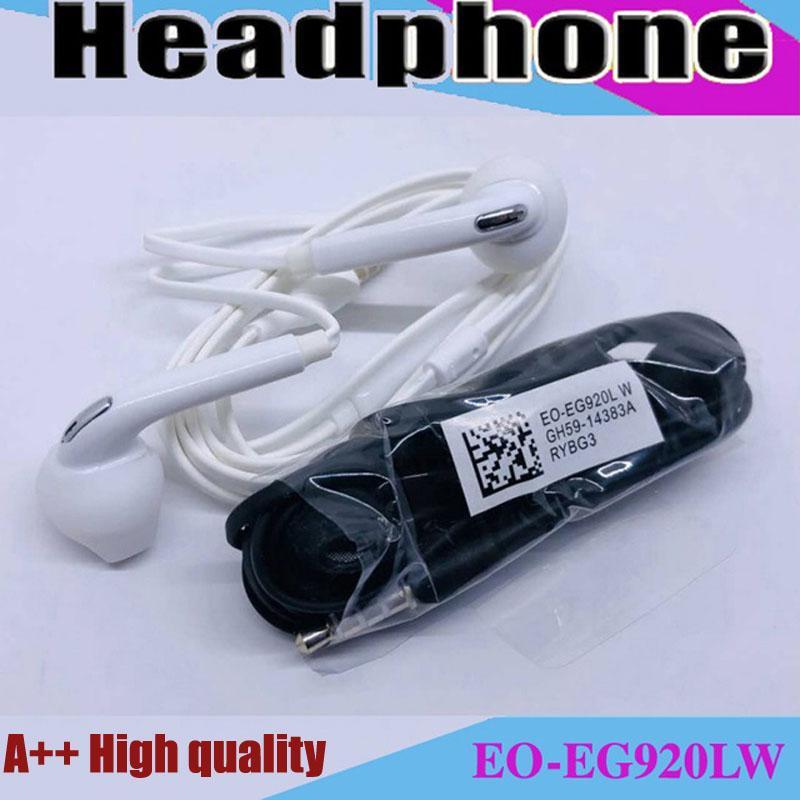 Kulaklık Premium Stereo Kaliteli Fabrika Promosyon Samsung S7 S6 Kenar Kulaklık Kulaklık Kulaklık Kulaklıklar 3.5mm Ambalaj Olmayan EO-EG920LW