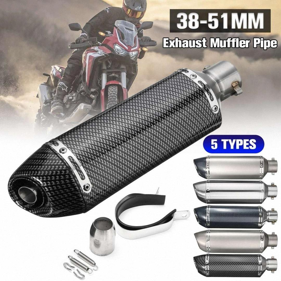 Kit silenziatore del tubo di 38 millimetri-51 millimetri in acciaio inox moto di scarico con la SC GP Racing Moto Moto ATV per / Kawaki z6Yr #