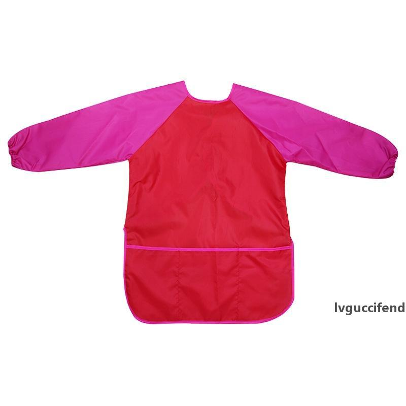 Kids Waterproof Craft Apron Smock for Painting Drawing Art Class Long-sleeve