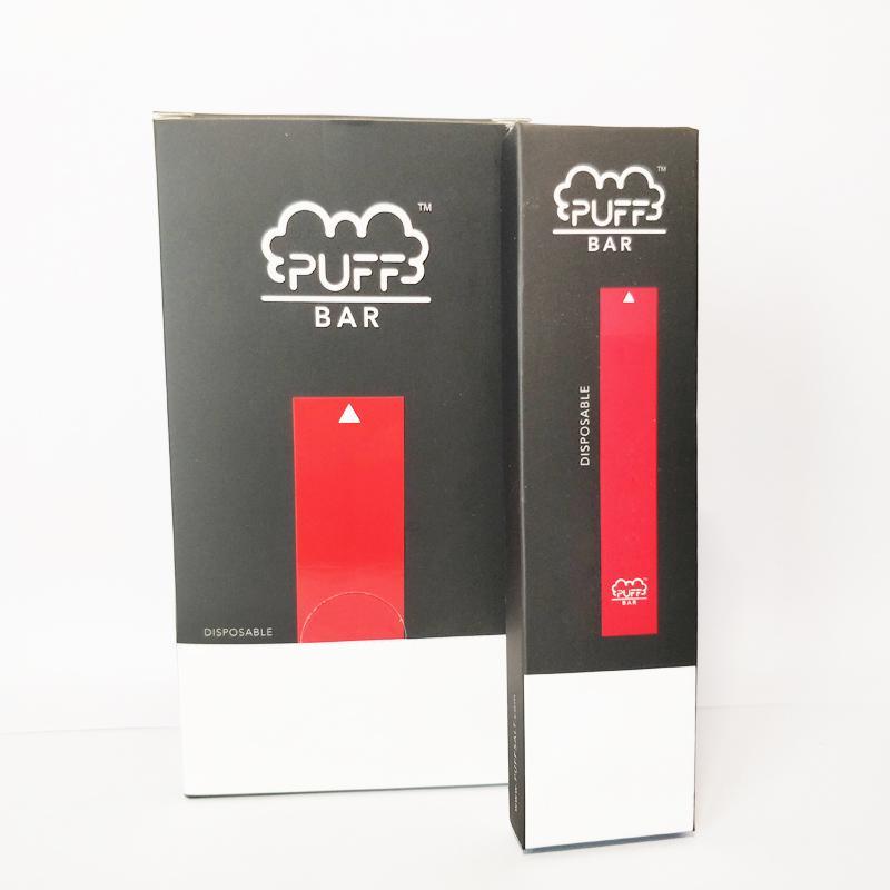 New Puff Bar bâton Pod Kit 280mAh batterie avec 1,3 ml VIDE La cartouche périphérique Vape Pen avec le code de sécurité pointe noire