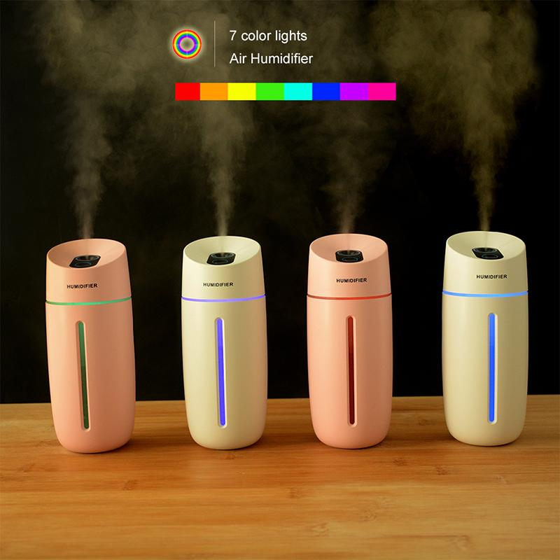 High Quality 250ML Ultrasonic Air Humidifier Aroma Essential Oil Diffuser car humidifiers Mist Maker with colorful LED Night Lamp
