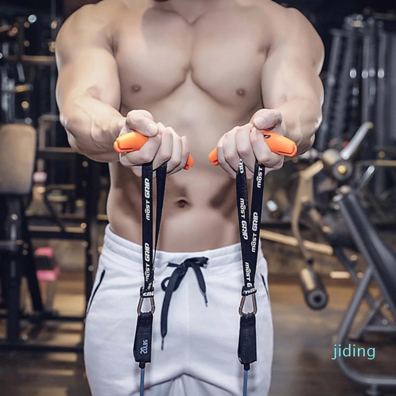 Mango resistencia mayor-Gimnasio Banda apretones de levantamiento de pesas de elevación fuerza de agarre Sling Trainer para tirar hacia arriba Bares Barbells Tirando de Máquinas