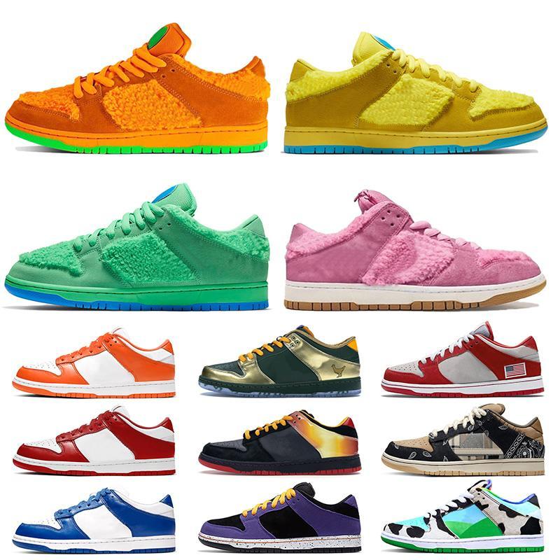 nike sb dunk low scarpe Sashiko 2020 di moda schiacciate bassi verde arancione giallo rosa Orsi Running Shoes donne mens Chunky Dunky pattinare formatori scarpe da