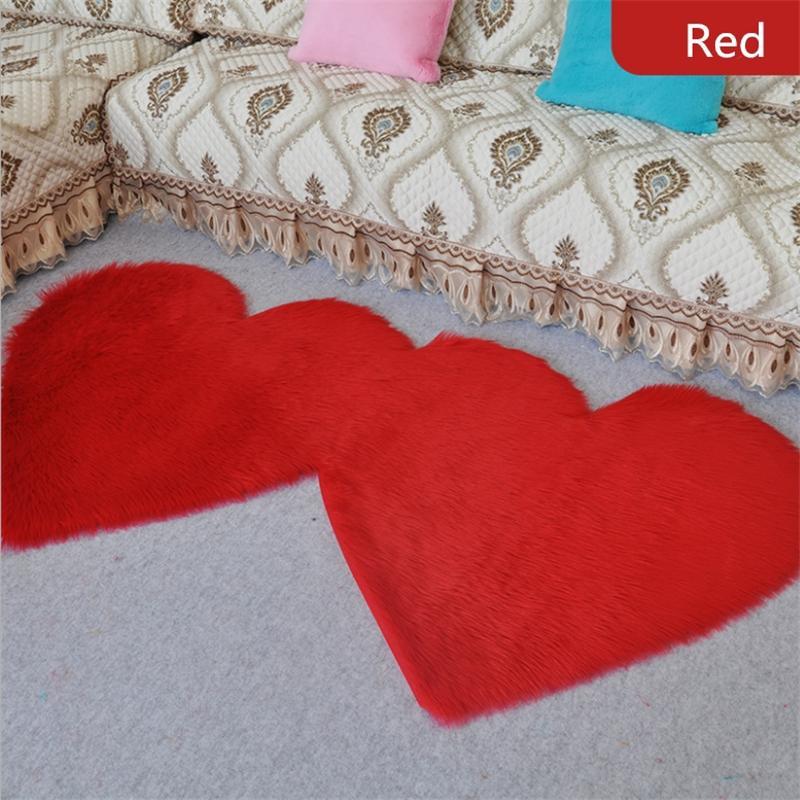 Moderna minimalista doble amor estera de la felpa ventana flotante 90 * 180cm dormitorios casa de la decoración de la alfombra de lana de noche imitación cojín puede ser por encargo