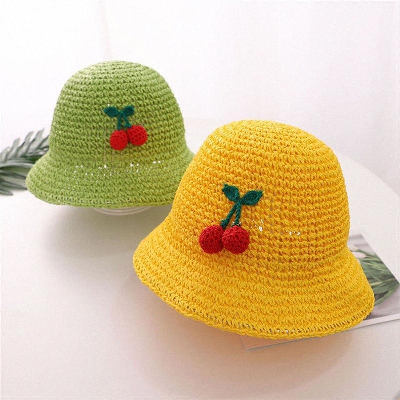 Neue Ankunfts-Spitze-Sommer-Stroh-Hut für Kind-Sommer-Hüte für Baby-Jungen-Sonnenhut Kind Panama Strand Cap Knochen Fb4B #
