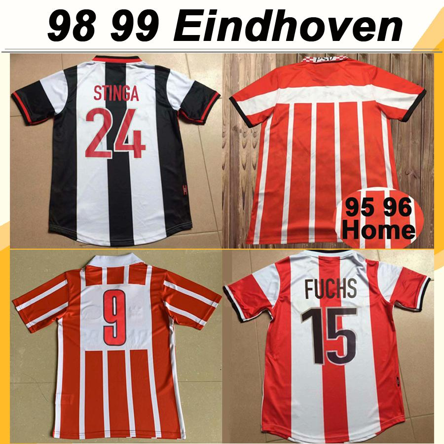 98 199 OOIJER DE DILDE Mens Retro Soccer Jerseys BRUGGINK KOLKKA Home Away Football Shirt Eindhoven STINGA FUCHS NILIS Short Sleeve