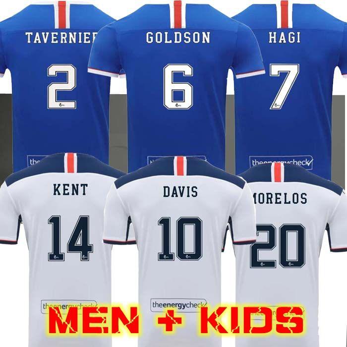 MEN + KIDS (20 개) (21) 레인저스 축구 유니폼 2020 2021 홈 JACK 모렐 로스 Dorrans 축구 셔츠 베르니에 DAVIS KENT 멀리 축구 유니폼 글래스고