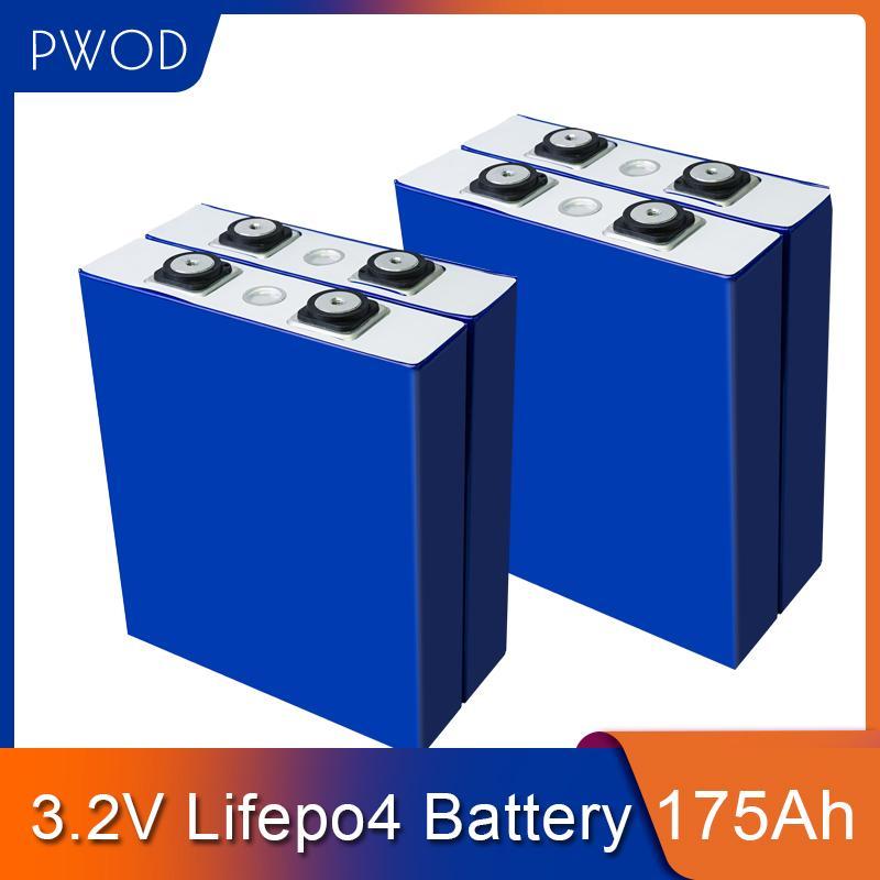 4pcs 3.2V 175Ah LiFePO4 batterie lithium fer phosphate Cell Cycle 4000 fois 3C 500A solaire 12V 176Ah 180Ah PAS livraison gratuite