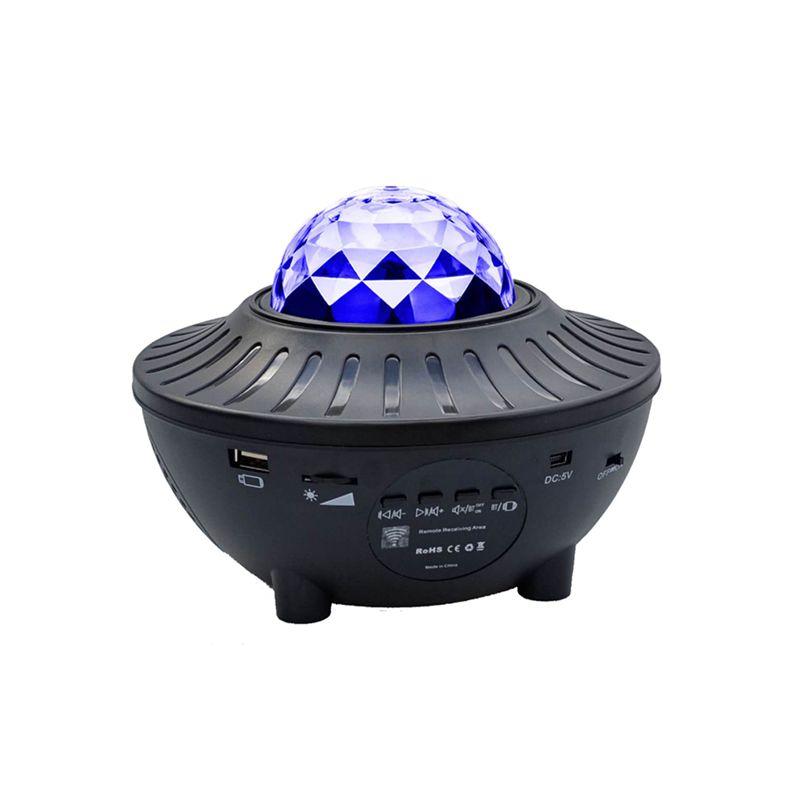 Projector LED USB LED Estrela Night Light Música estrelado Water Wave Luz Bluetooth Projector Sound-Activated Projector Luz Decor CRESTECH