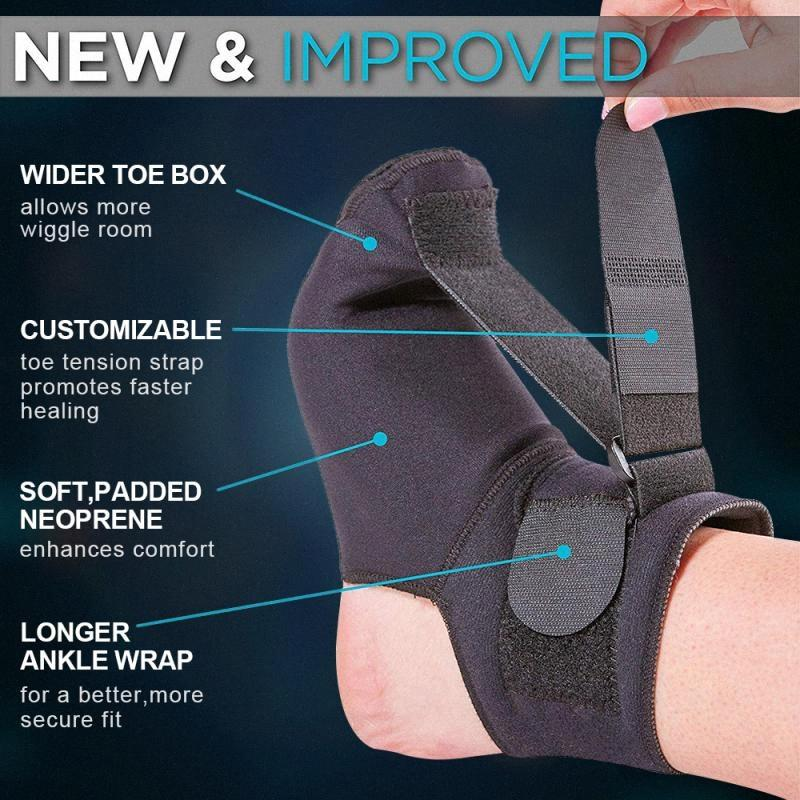 Adjustable Foot Brace Sag Traction Belt Heel Pain Plantar Syndrome Night Splint Foot Ankle Support Brace Stretch Strap 6E6X#