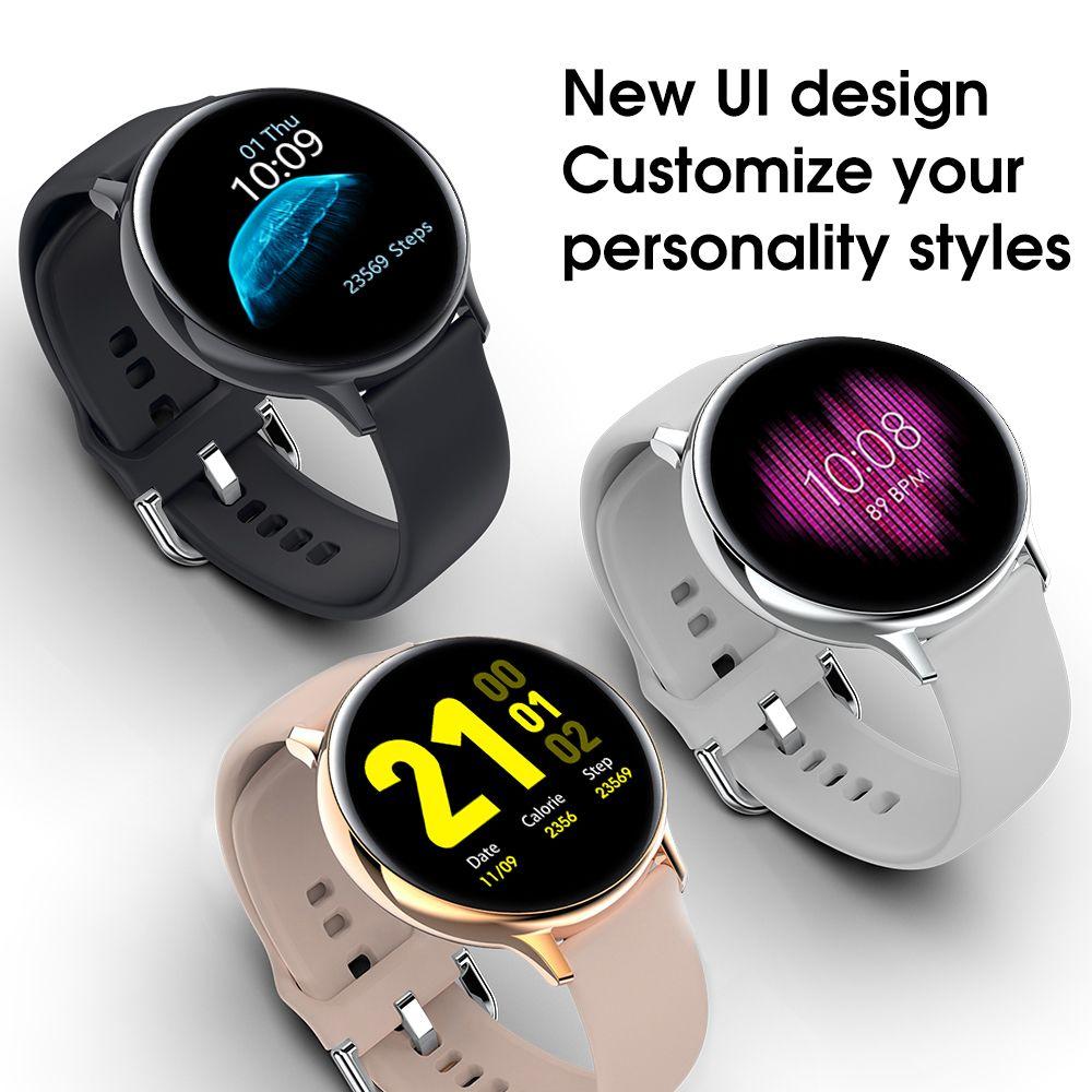 Kalp Akıllı Su Geçirmez Daire Tam Telefon S20 Dokunmatik İzle Spor Izci Ekran Hızı Monitörü EKG IP68 Hatırlatma Smartwatch Mesaj WJPNN