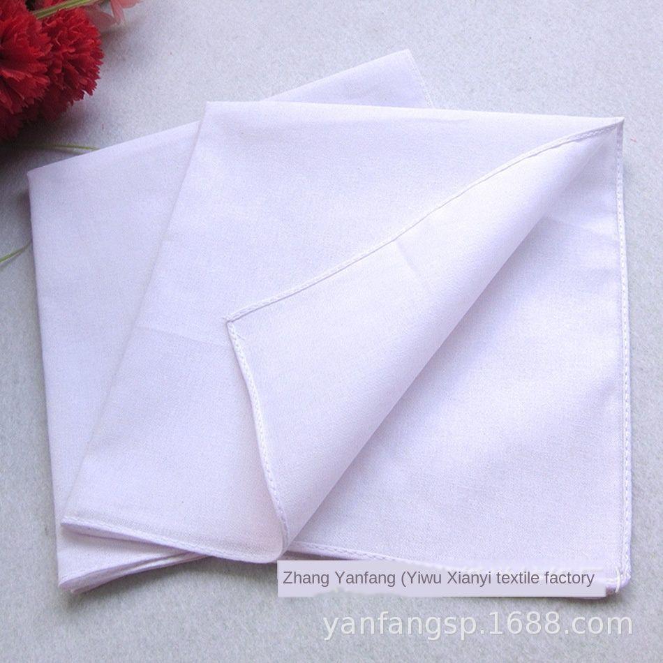 branco puro algodão 30 * 30 centímetros branco puro tingido fricção bordados Diy lenço lenço handmade DIY